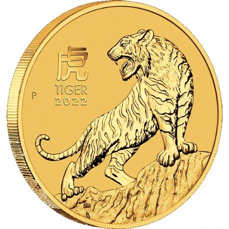 PM Lunar 3 TIGER 1 oz GOLD 2022 BU $100 Australia
