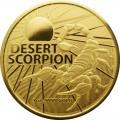RAM MOST DANGEROUS 1 oz GOLD DESERT SCORPION 2022 $100
