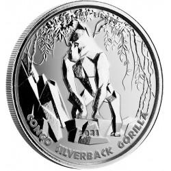 1 oz silver GORILLA CONGO 2020 CFA 5000