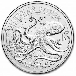Barbados 1 oz silver OCTOPUS 2021 BU $1