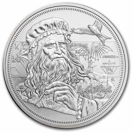 1 oz silver ICONS OF INSPIRATION 2021 LEONARDO DA VINCI