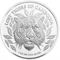 CAMBODIA 3000 RIELS 1 oz silver Lost Tigers 2022
