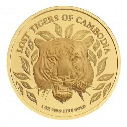 CAMBODIA 30 000 RIELS 1 oz GOLD Lost Tigers 2022