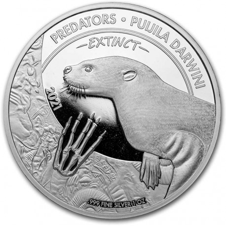 CONGO 1 oz silver Predators PTERANODON 2021 BU 20fr.