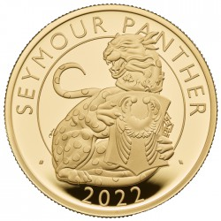 UK 1 oz GOLD The SEYMOUR PANTHER 2022 £1 PROOF Box + Coa The ROYAL TUDOR BEASTS COLLECTION