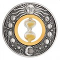 Hourglass 2021 2oz Silver Antiqued Coin