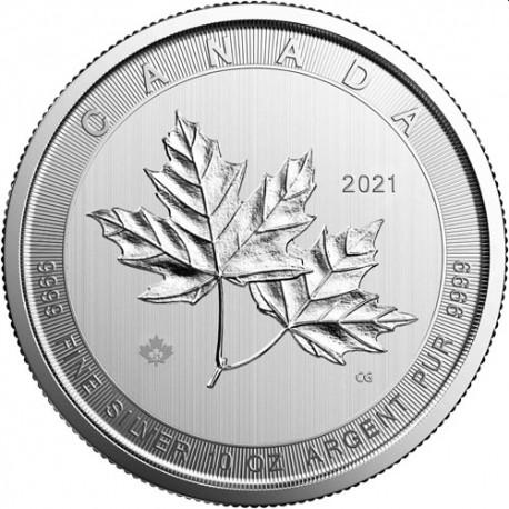 10 oz silver MAGNIFICENT MAPLE LEAF 2020 $50
