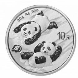 30 GR SILVER PANDA 2022 Yuan 10