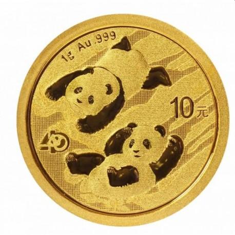 Gold CHINA PANDA 1 GR 2022 YUAN 10