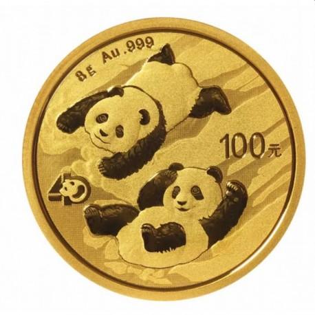 Gold CHINA PANDA 8 GR 2022 Yuan 100