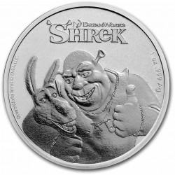 Niue 1 oz silver SHREK 2021 $2 Anniversary