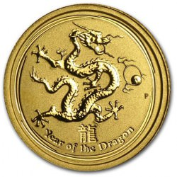 1/20 oz gold DRAGON 2012
