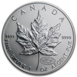 1 oz silver MAPLE LEAF 2000 FIREWORKS privy