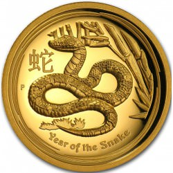 OR 1/4 oz GOLD LUNAR SNAKE 2013