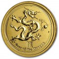 1/4 oz GOLD LUNAR DRAGON 2012