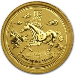 1/10 oz gold LUNAR HORSE 2014