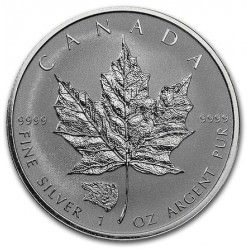 1 oz silver MAPLE LEAF 2016 GRIZZLY privy