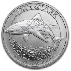 1/2 oz SILVER TIGER SHARK 2016