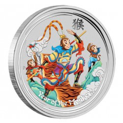 1 oz silver MONKEY KING 2016 COLOURED