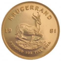 1 OZ GOLD KRUGERRAND 1981