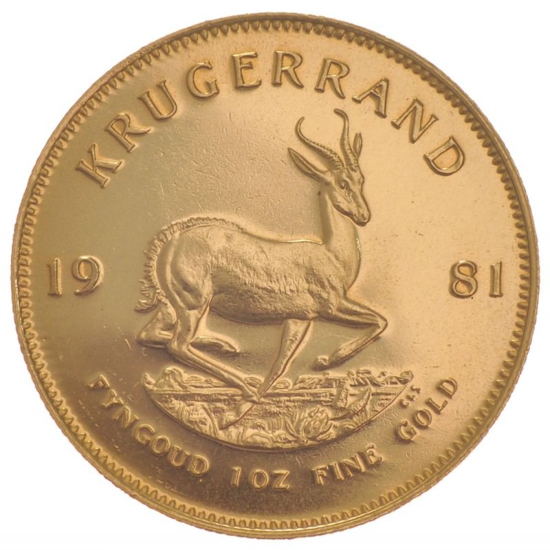 1 Oz Gold Krugerrand 1981 Goldsilver Be