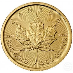 GOUD 1/4 oz GOLD MAPLE LEAF