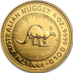 GOLD NUGGET 1/4 oz 1992