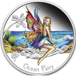 1 oz troy silver FAIRY ARCHER Capsuled