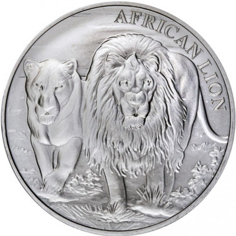 1 Oz Silver African Lion 2016 Congo Goldsilver Be
