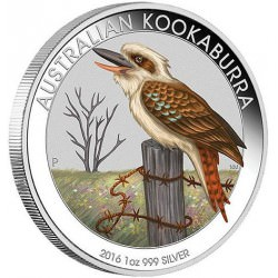 1 oz silver KOOKABURRA 2016 WMF SPECIAL COLORED