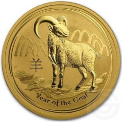 OR 1 oz GOLD LUNAR GOAT 2015