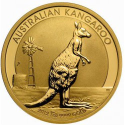 1 oz gold NUGGET 2012 Kangaroo