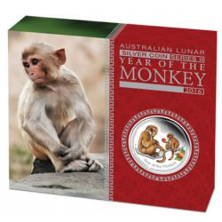 Year of the Monkey - 1 oz silver 2016 colored PROOF