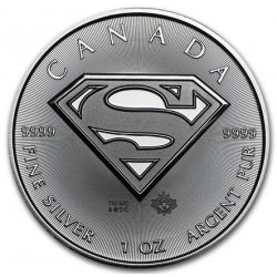1 oz silver Maple Leaf 2016 SUPERMAN