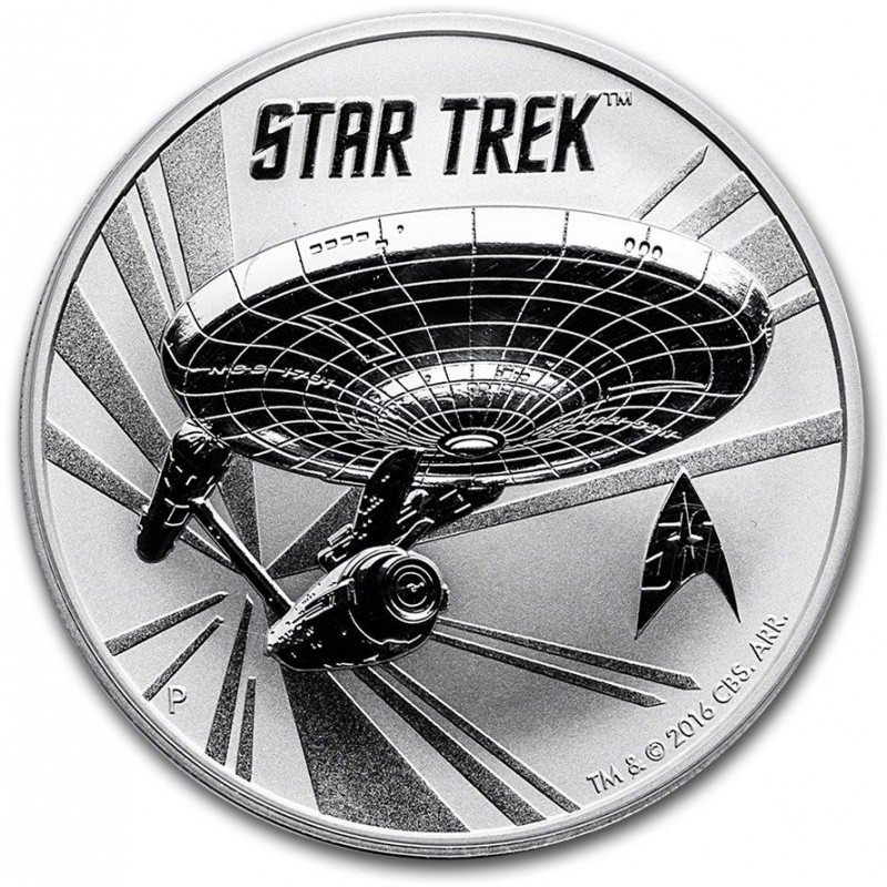 1 Oz Silver Tuvalu Star Trek 2016 U S S Enterprise