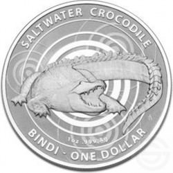 1 oz silver SALTWATER CROCODILE BINDI 2013