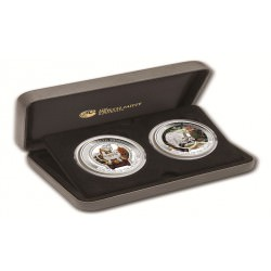 2016 LUNAR GOOD FORTUNE TUVALU 2-coin set 1 OZ SILVER