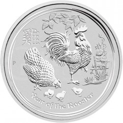 10 oz SILVER ROOSTER 2017