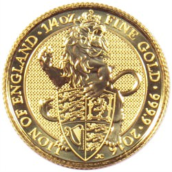 1/4 oz gold QUEEN'S BEAST 2016 LION