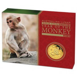 1/10 oz gold LUNAR MONKEY 2016 PROOF