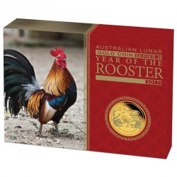 1 oz gold LUNAR ROOSTER 2017 PROOF