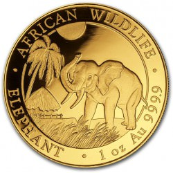 GOLD 1 oz ELEPHANT 2017 SOMALIA