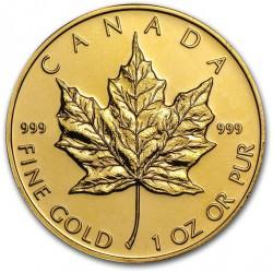 1 oz gold MAPLE LEAF 1986