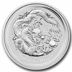 10 oz silver DRAGON 2012