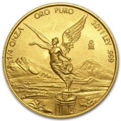 1/4 oz gold LIBERTAD 2011