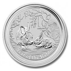 2 oz silver Lunar RABBIT 2011