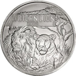 1 oz silver AFRICAN LION 2015