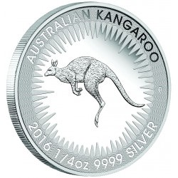 Australian Kangaroo 2016 1/4oz Silver Proof Coin