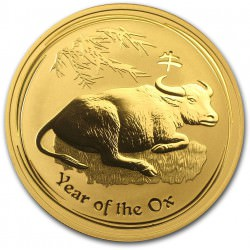 1 oz gold Lunar OX 2009