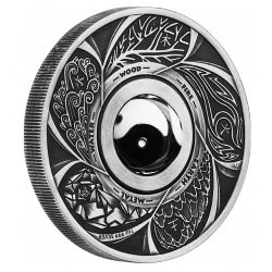 Yin Yang Rotating Charm 2016 1oz Silver Antiqued Coin